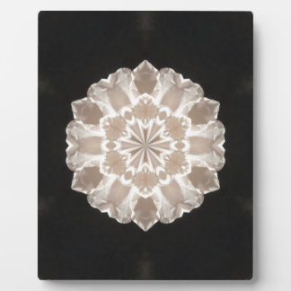 beige and cream floral abstract art plaque