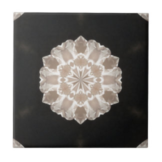 beige and cream floral abstract art small square tile
