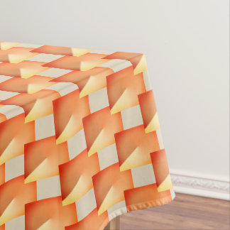 Beige and orange geometric Xmas tablecloth. Tablecloth