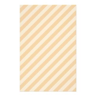 Beige and Tan Stripe Pattern. 14 Cm X 21.5 Cm Flyer