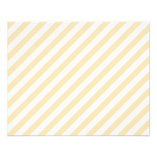 Beige and White Diagonal Stripes. 11.5 Cm X 14 Cm Flyer