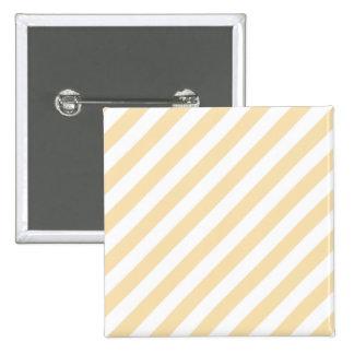 Beige and White Diagonal Stripes Button