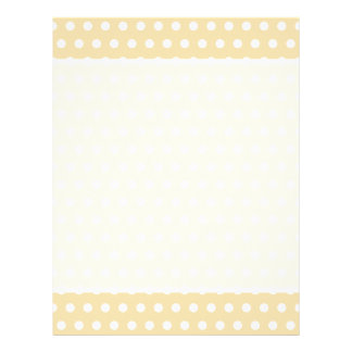 Beige and White Polka Dot Pattern. Spotty. 21.5 Cm X 28 Cm Flyer