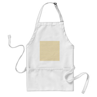 Beige and White Polka Dot Pattern Spotty Apron