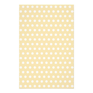 Beige and White Polka Dot Pattern. Spotty. Full Color Flyer