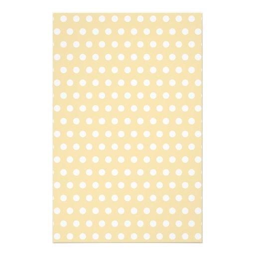 Beige and White Polka Dot Pattern. Spotty. Full Color Flyer