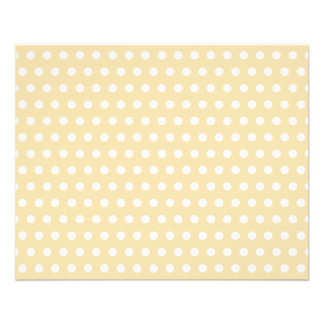 Beige and White Polka Dot Pattern. Spotty. Flyers