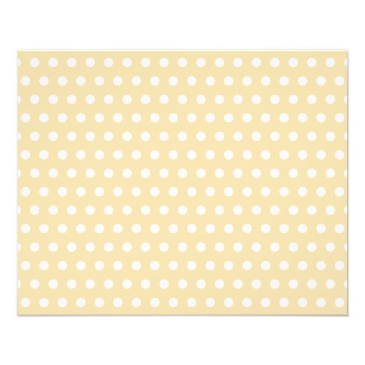 Beige and White Polka Dot Pattern. Spotty. Flyers