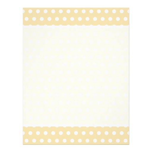 Beige and White Polka Dot Pattern. Spotty. Personalized Flyer