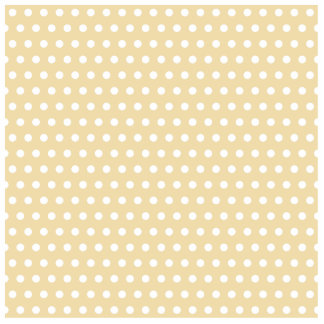 Beige and White Polka Dot Pattern. Spotty. Photo Sculpture Badge