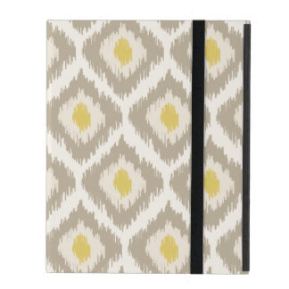 Beige And Yellow Diamond Ikat Pattern iPad Folio Case
