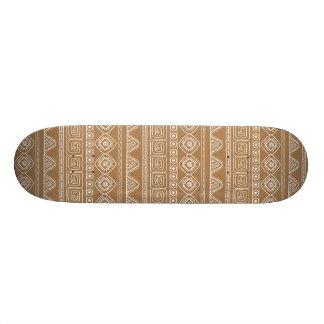 beige aztec pattern skateboard deck