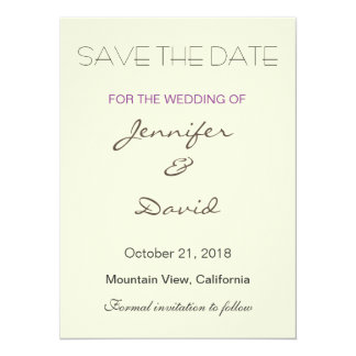 "Beige Background Grey Modern Wedding Invitation 5.5"" X 7.5"" Invitation Card"