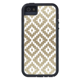 Beige Brick Aztec Tribal Print Ikat Diamond Pattrn Tough Xtreme iPhone 5 Case
