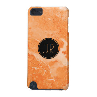 Beige & Brown Marble Texture Print iPod Touch 5G Cases
