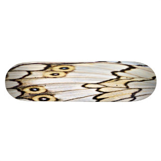 Beige Butterfly Wing Art Skateboard - A Beauty