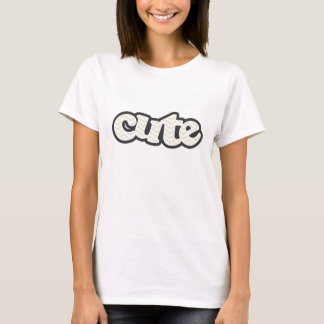 Beige Chevron; zig zag T-Shirt