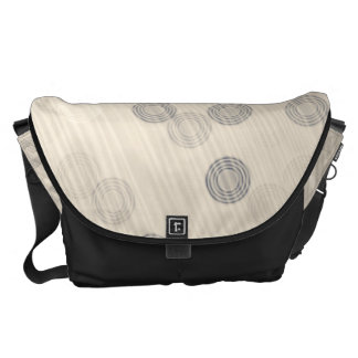 Beige Circle Stripe Pattern Courier Bags