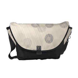 Beige Circle Stripe Pattern Commuter Bags