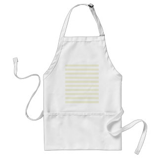Beige Cream And White Horizontal Stripes Pattern Aprons