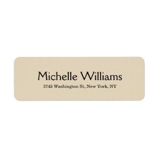 Beige Creative Minimalist Professional Modern Return Address Label