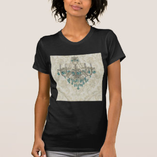 beige Damask French Country Vintage Chandelier T-Shirt