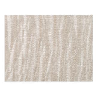 Beige fabric texture postcard