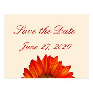 Beige Fall Wedding Save The Date Postcard