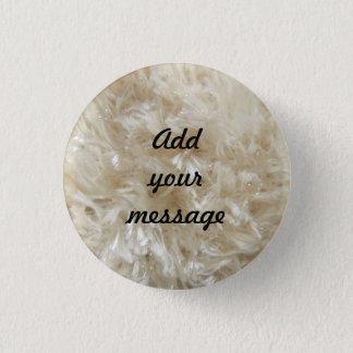 Beige Faux Fur Print 0390 3 Cm Round Badge