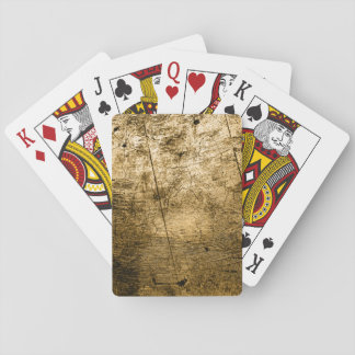 Beige Faux Wood Grain Playing Cards