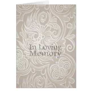 Beige Floral Tapestry In Loving Memory frame card