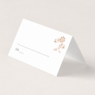 Beige Flower Wedding Place Card