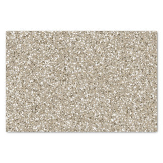 Beige Glitter Pattern Look-like Tissue Paper