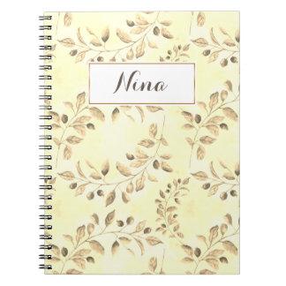 Beige Leaves Notebooks