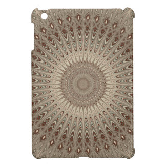 Beige mandala cover for the iPad mini