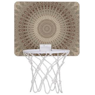 Beige mandala mini basketball hoop