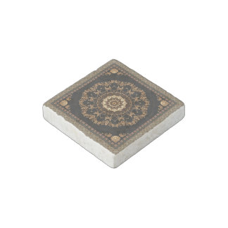 Beige Mandala Stone Magnet
