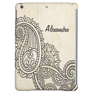 Beige Mehndi Motif Savvy iPad Air Case