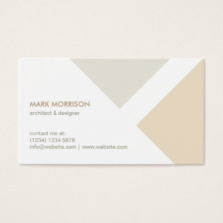 Beige Minimalist white modern professional smart Business Card