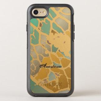 Beige Mint Blue Pastel Eco Art Custom OtterBox Symmetry iPhone 8/7 Case