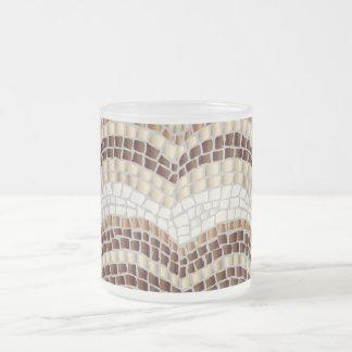 Beige Mosaic 10 oz Frosted Mug
