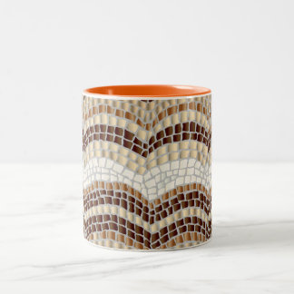 Beige Mosaic 11 oz Two-Tone Mug