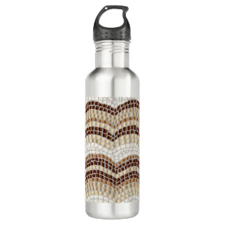 Beige Mosaic 24 oz Water Bottle