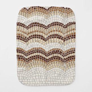 Beige Mosaic Burp Cloth