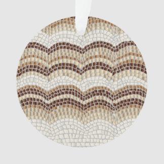 Beige Mosaic Circle Ornament