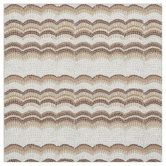 Beige Mosaic Combed Cotton Fabric