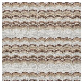 Beige Mosaic Cotton Twill Fabric