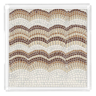 Beige Mosaic Extra-Large Square Serving Tray