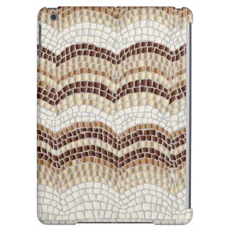 Beige Mosaic Glossy iPad Air Case