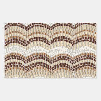 Beige Mosaic Glossy Rectangle Sticker